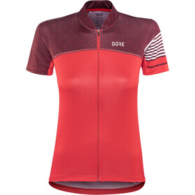 GORE WEAR C5 Jersey Dames, hibiscus pink/chestnut red